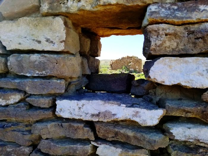 Abandoned Places Window Military History Ft. LaClede Red Desert Ruins The Great Divide Wyoming Sky Brick Wall Stone Wall Old Ruin Historic Stone Material Textured