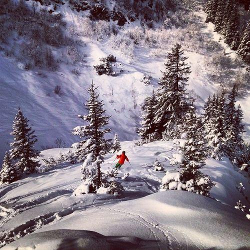 Langerzug Lech Arlberg Austria snow powder sun