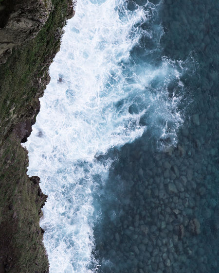 Coastline at Madeira Water Sea Motion Rock Sport Solid Beauty In Nature Rock - Object Aquatic Sport Surfing Land Nature Beach Wave Scenics - Nature Day High Angle View Outdoors Power In Nature Breaking Flowing Water Hitting My Best Photo