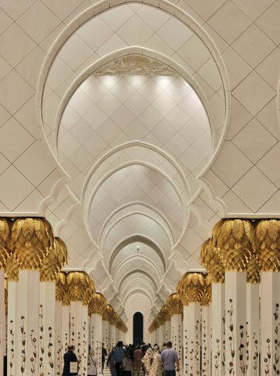 abstracted! Abstract Architecture Art Arch Ceiling Architecture Indoors  History Built Structure People