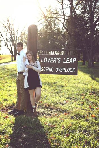 I have fallen in love with this photo. Lover's Leap will be my new hot spot. Couplephotography Fall Romantic Sunset
