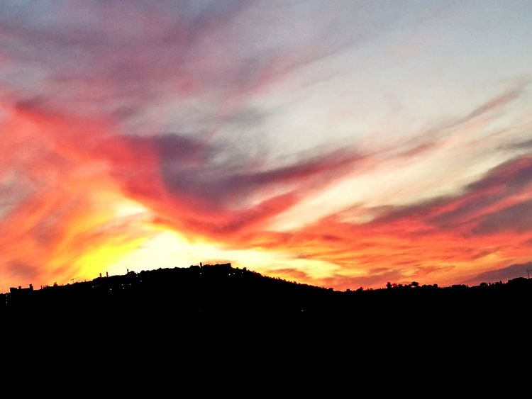 Sunset Atmosphere Landscape Beauty In Nature Sky Montalcino.
