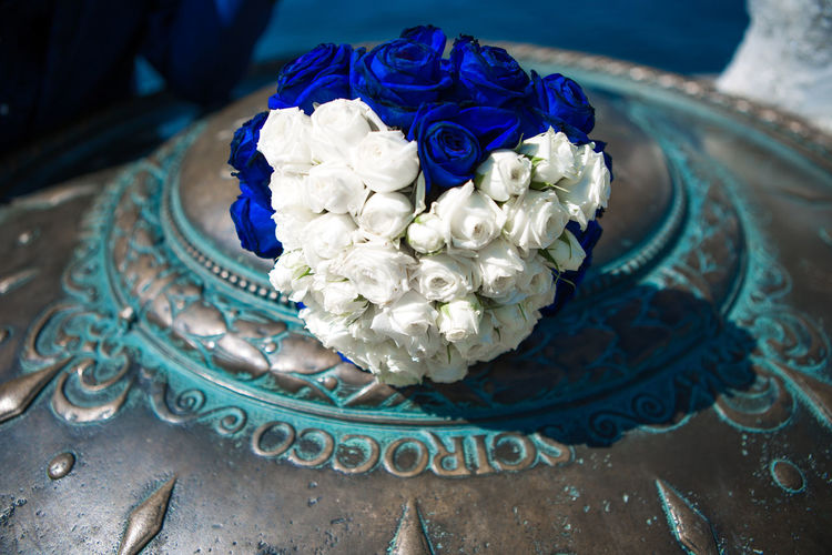 Wedding Beauty In Nature Blue Boquet Of Flowers Close-up Day Flower Fragility Freshness Indoors  Nature No People Rose - Flower Wedding