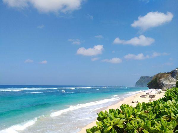 A quiet beach Wave Water Sea Beach Sand Blue Sky Horizon Over Water Coastline Seascape Coast Calm Sandy Beach