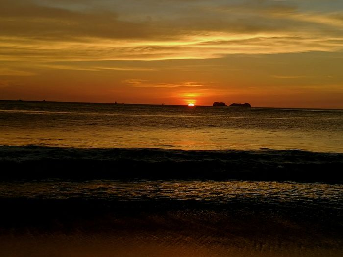 Sunset Sea Outdoors Beach Sun Playa Flamingo Playa Penca Costa Rica❤ Costa Rica Sunset_collection Vacation Time Vacations Relax Relaxing