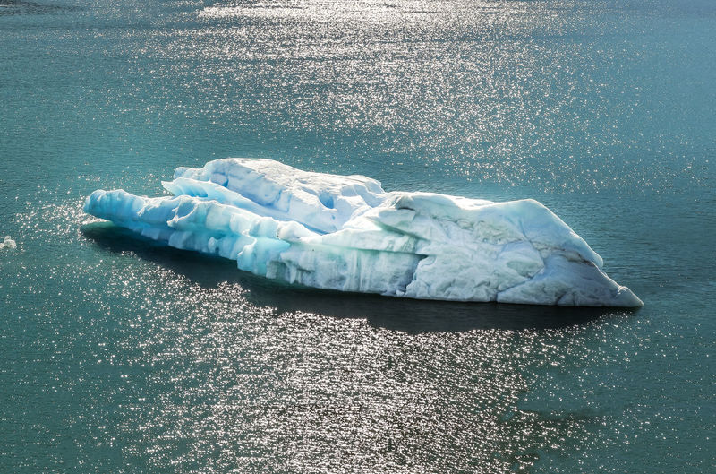 High angle view of ice formation in sea