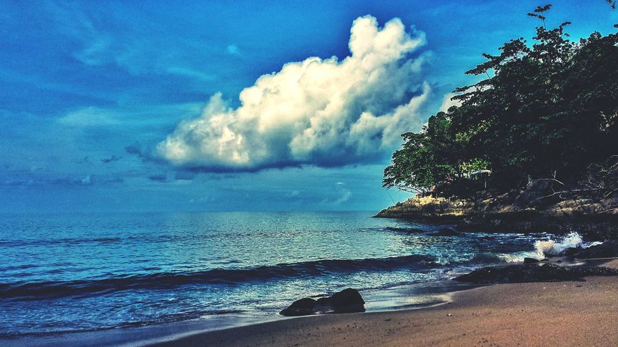 Shades Of Blue Shade Thai Southeast Asia ASIA Outdoors Jungle Sunshine Hillside Landscape Morning Seascape Beach Clouds Blue Sky Laem Sing Beach