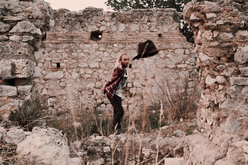 Long Goodbye sometimes you have to just let go and throw it all to the wind. Full Length One Man Only Outdoors Adult Hiking EyeEm Best Shots Bestoftheday Hiking Greece Plaid Fashion Style Letting Go Breathing Space