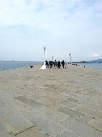 Weddings on Molo Audace Trieste Wedding Dress Perspectives Prospettive Seascape Mood On The Move