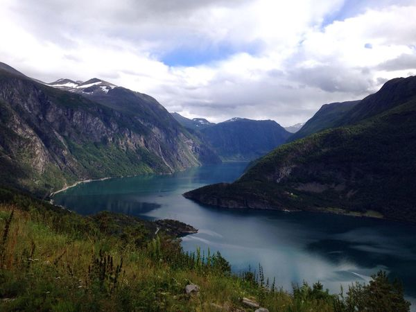 Norway Taking Photos Landscape Beautiful Nature Clouds And Sky Relaxing On Tour Beautiful Moments Water Mountains Fjord Summertime Summer Nature Taking Photos Light