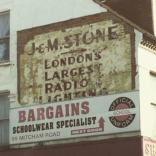 Ghost Sign Tooting SouthLondon