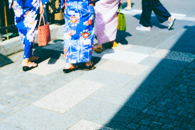 Blue Japan Blue Yukata Foot Steps Japan Blue KAWAGOE Local Festival Outdoors Stone Pavement Street Summer Festival Summer In Japan Wemen YUKATA 夏祭り