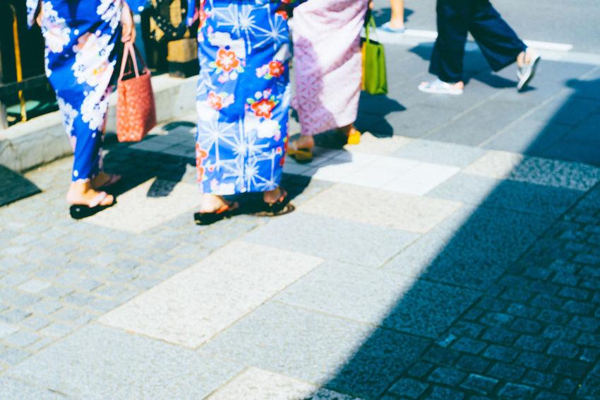 Blue Japan Blue Yukata Foot Steps Japan Blue KAWAGOE Local Festival Outdoors Stone Pavement Street Summer Festival Summer In Japan Wemen YUKATA 夏祭り
