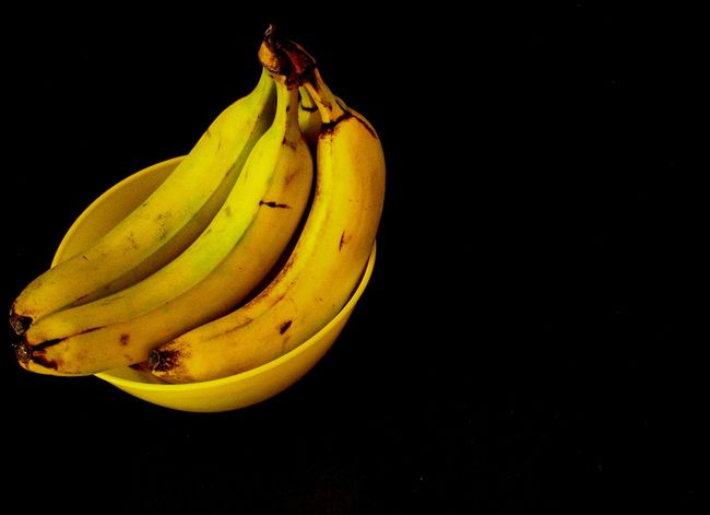 bananas Food Food Photos Food Photography Bananas Banana Fruit Yellow Yellow Fruit Bowl Yellow Bowl Black Black Background Yellow And Black