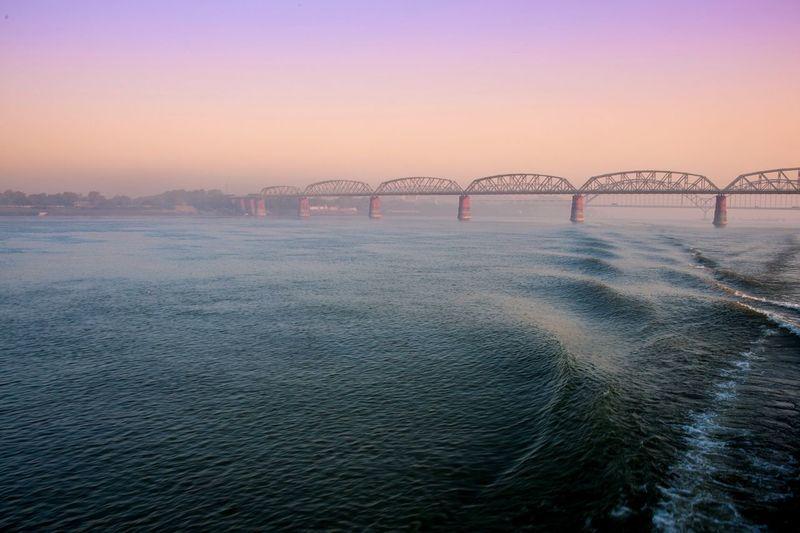 Mandalay - myanmar - river cruise at sunrise