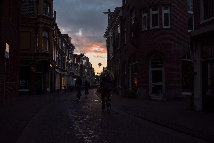 Bicycle Crimson Evening Evening Sky Golden Golden Hour Haarlem Light Storm Sunset Live For The Story The Street Photographer - 2017 EyeEm Awards The Photojournalist - 2017 EyeEm Awards The Great Outdoors - 2017 EyeEm Awards Place Of Heart