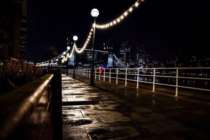 Nights Night Bridge - Man Made Structure Illuminated Architecture Built Structure Railing City River Bridge Cityscape Sky