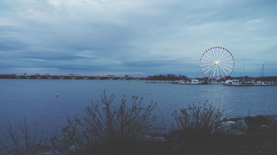Haunting. Ferris Wheel Sky Water Cloud - Sky Arts Culture And Entertainment Big Wheel