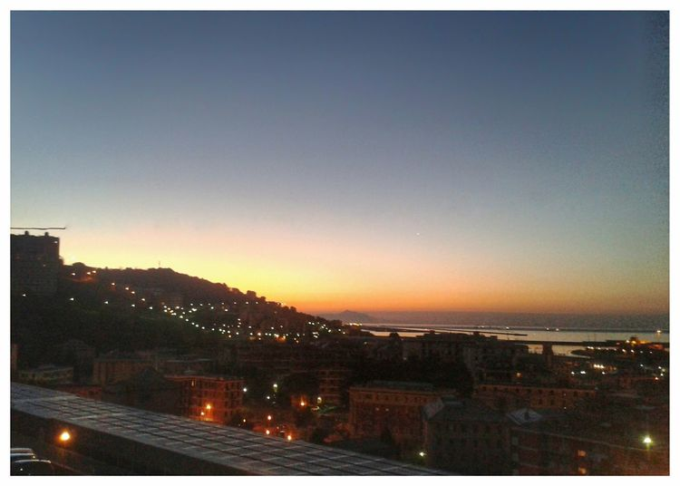 Have you a nice Sunday! Alba Sunrise Rayleigh Scattering Dawn Of A New Day Horizon Over Water Sea Mar Ligure Mobile Photography Android Photography S3 Mini City Cityscape Mountain Illuminated Sky Architecture Building Exterior Built Structure TOWNSCAPE Residential District