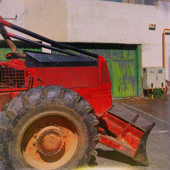 Industrial Architecture Tractor Red Tractor Industrial Photography Transportation Tractor Land Vehicle Day No People Outdoors Tire Industrial Architecture