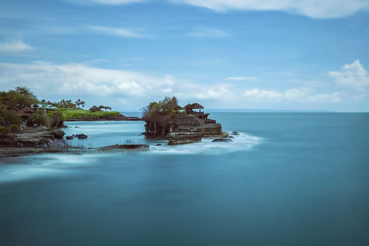 long exposure shot in Bali, Indonesia Architecture Beach Beauty In Nature Built Structure Cloud - Sky Day Horizon Horizon Over Water Idyllic Land Nature No People Outdoors Scenics - Nature Sea Sky Tranquil Scene Tranquility Water Waterfront Summer Exploratorium