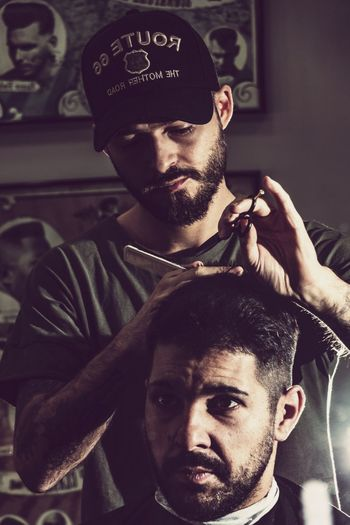Barber Craft Menstyle Labreca Barbearia Barber Craft Montijo Portugal Gentlemens Club Barbershop EyeEm Selects Young Men Young Adult Real People Men Lifestyles Beard Fashion Males  Portrait Hairstyle People Hairdresser Facial Hair Adult Barber Shop Barber Human Hair First Eyeem Photo