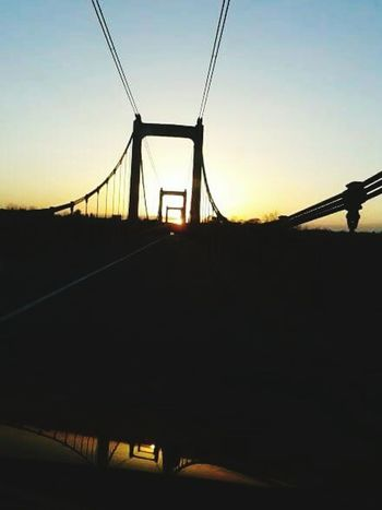 Bridge Sunset Metal Structure Reflection Driving Taking Pictures France Moments My Point Of View Shadows & Lights Blue Sky Clear Sky Summer No People French Village Campagne Eye4photography  EyeEm Showing Imperfection Reflection_collection Human Meets Technology On The Road Streetphotography Skyporn Sky