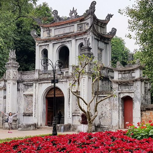 temple of literature - vietnam's first national university, was built in 1070 Temple Of Literature Temple Of Confucius 1076-1779 To Educate Bureaucrats Nobles Royalty And Other Elitee Architecture Hanoi Architecture Hanoi Feb 2018 Hanoi Holiday With Sharon Lsc_hanoi Winter 2018_temple Of Literature