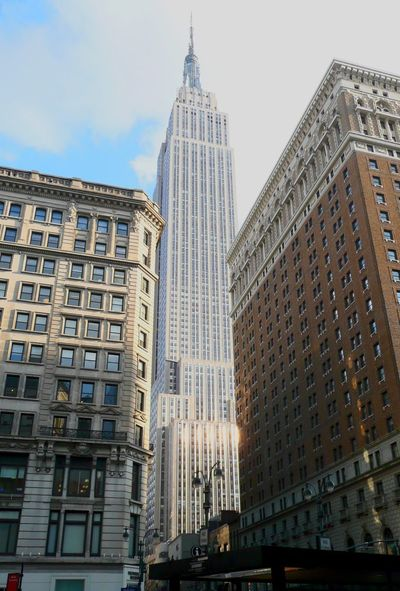 Empire State Building Architecture Building Exterior Skyscraper Built Structure Low Angle View City Travel Destinations No People Modern Sky Day