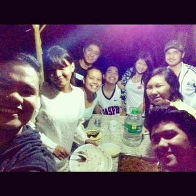 Dinner with friends... TeamMajayjay Cold Lambanog Aso Pancithabhab