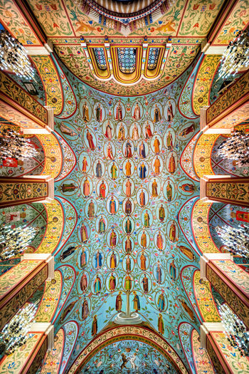 Romanov Tsars' family tree on the hall roof in the State Historical Museum in Moscow Ceiling Halloween History Through The Lens  Romanov Dynasty Russia Architecture Art And Craft Ceiling Fresco History Indoors  Multi Colored Museum No People Ornate Romanov State Museum Travel Destinations Tsar