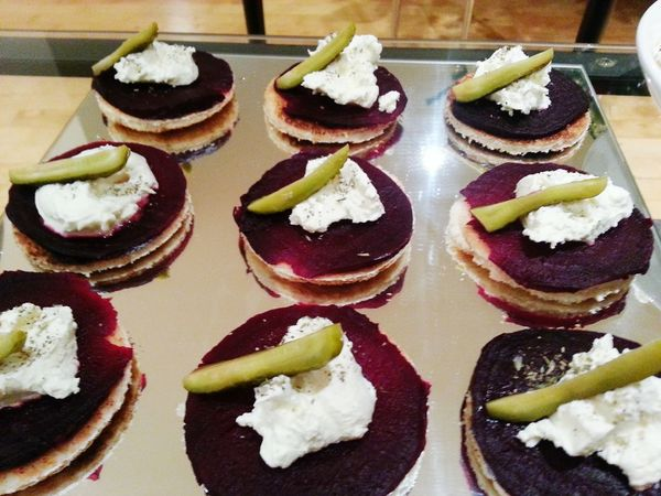 Delicious beet appetizers