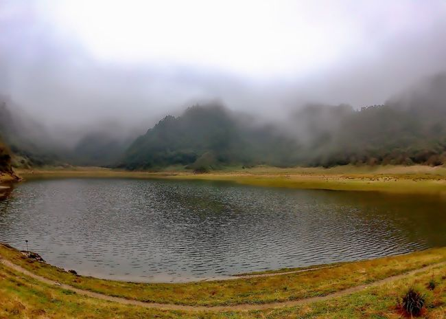 Water Lake Nature Landscape Fog Reflection No People Outdoors Heat - Temperature Scenics Beauty In Nature Day Mountain Irrigation Equipment Sky