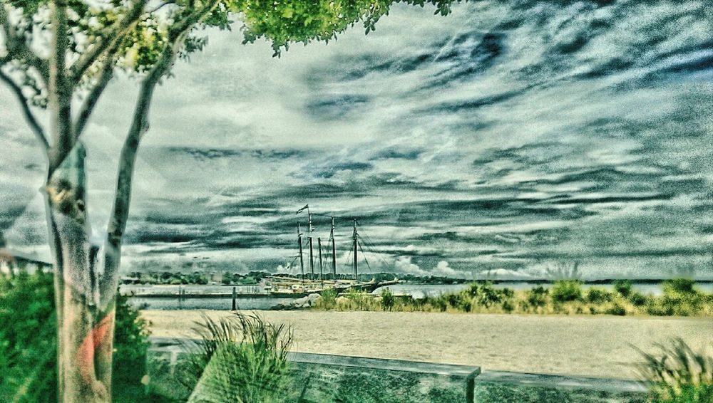 taken in Yorktown...thru car window, so there are some reflections going on Yorktown Beach Waterfront Taking Photos