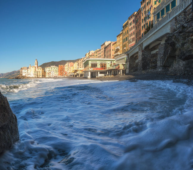 good morning from Camogli Camogli Camogli Italia Church Landscape_Collection Mediterranean  Nature Architecture Building Building Exterior Built Structure Clear Sky Fishing Italy Landscape Liguria Motion Nature_collection Outdoors Photography Sea Sea And Sky Seascape Town Waterfront Wave