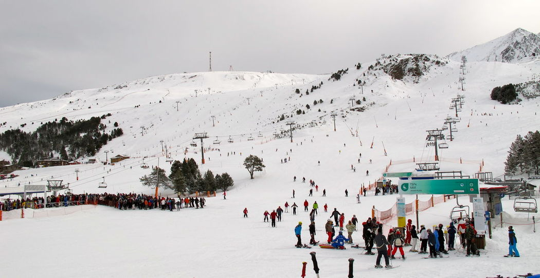 Photos of Pas de la Casa, Andorra 2010 Adult Beauty In Nature Cold Temperature Day Large Group Of People Lifestyles Mountain Nature Outdoors People Ski Lift Snow Village Winter