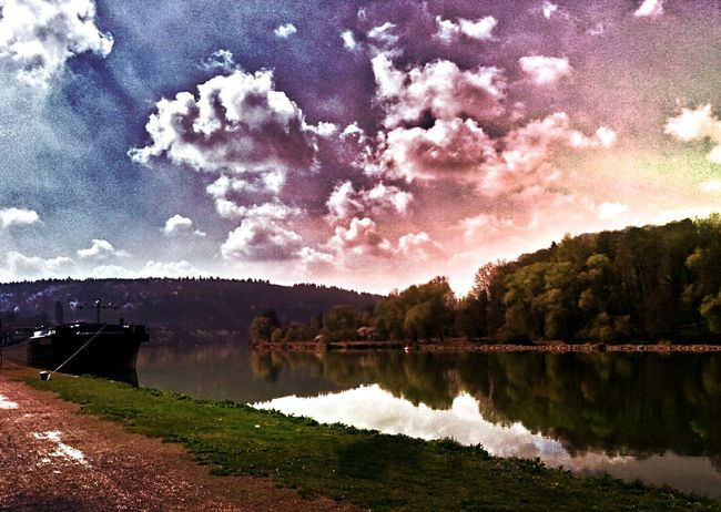 Landscape Nature Tree Cloud - Sky Lake Water Sky Beauty In Nature Tranquility Reflection Lake No People Outdoors Reflection First Eyeem Photo