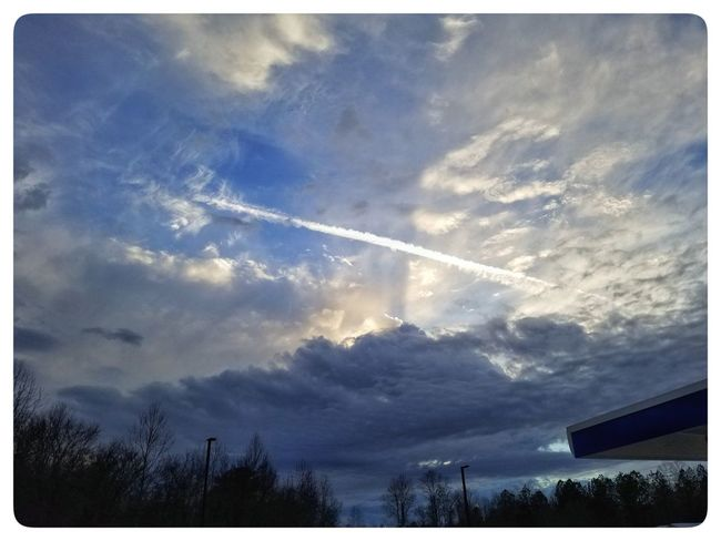 Vapor Trail Contrail Nature Low Angle View Scenics Outdoors No People