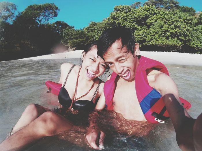 Enjoying The Sun Pangandaran Beach INDONESIA