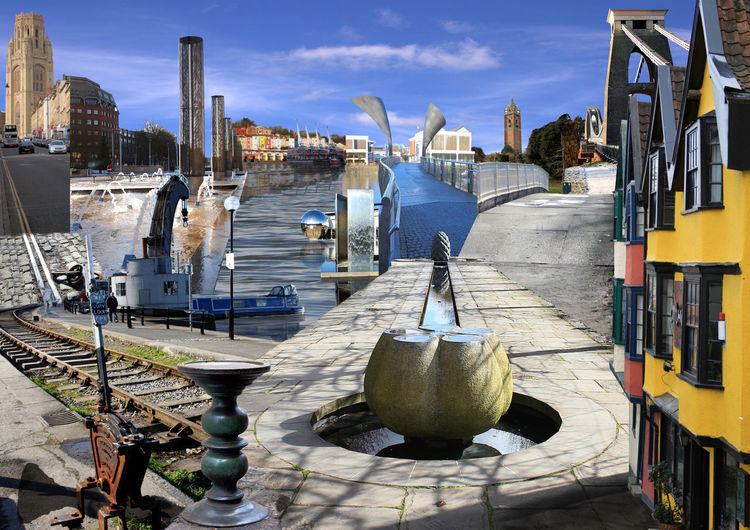 This is Bristol Architecture Boat Building Exterior Built Structure Canal City Life City Scape Cityscape Cityscapes Collage Collage Art Collage City Collageart Collages Composition Montage Moored Nautical Vessel Outdoors Photo Montage Reflection River Urban Water Waterfront