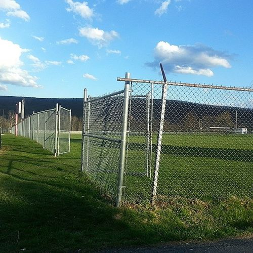 High School is all about cutting gym Chainlink Fence Rust Hate open football hockey soccer physed field sweet escape myoldhighschool creepy uncomfortable nostalgia mauchchunk