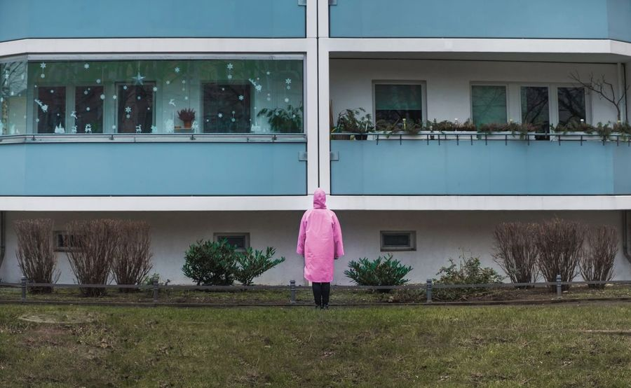- BERLIN WINTER TRISTESSE- Love Yourself Check This Out Lichtenberg My Fuckin Berlin Berlin Building Pink Blond Tristesse Winter Coat Window Walking Real People Building Exterior Architecture Full Length Outdoors Built Structure Day Women Rear View One Person Lifestyles Tree Grass People The Graphic City