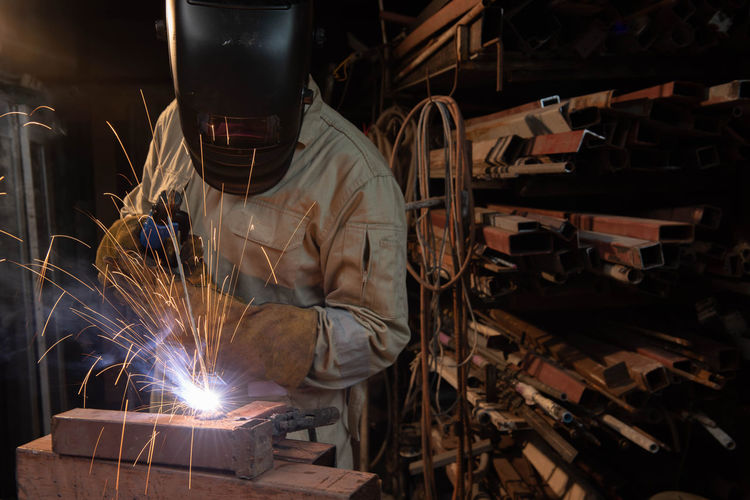 Man working at factory