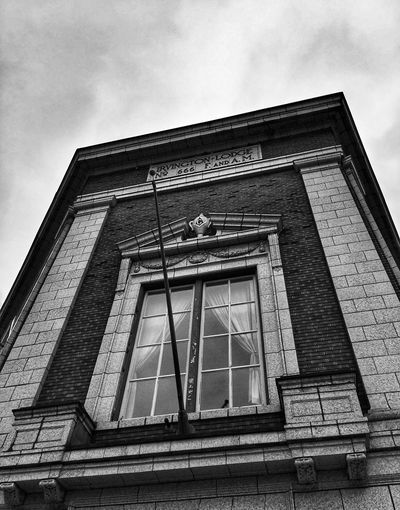 Architecture Low Angle View Built Structure Building Exterior Sky No People Day Window Outdoors Bnw Blackandwhite