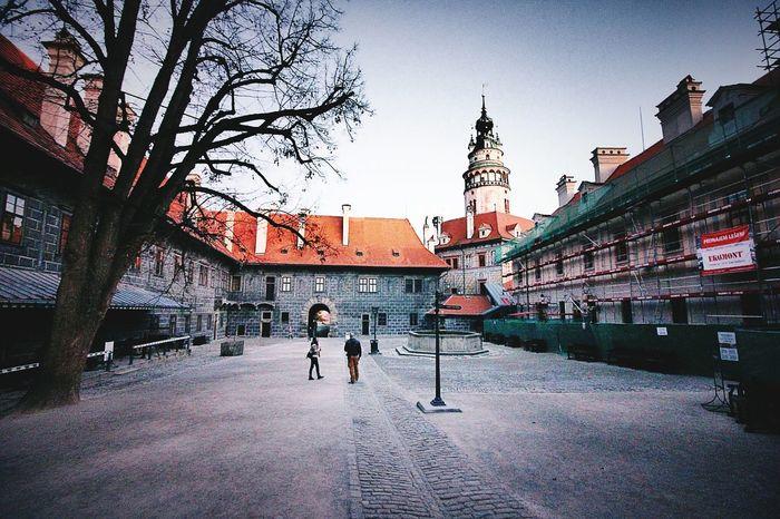 Zamek  Front Yard Czech Republic Old Castle UNESCO World Heritage Site Old Town