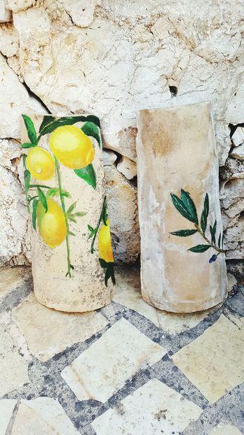 Vacations Outdoors Day Greek Islands Greekart Art ArtWork Greece Corfu, Greece Greek Tiles Painting Art