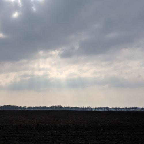 Omgeploegde akker Sky Landscape Cloud - Sky First Eyeem Photo