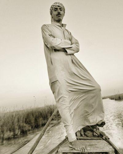 Boat Boatman Lagoon Pond Shadegan Khozestan Iran
