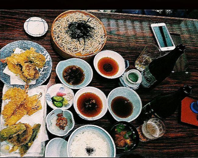 Dinner For Two Mixed Tempura Prawn Tempura Handmade Soba Food Asakusa Tokyo Japan Travel Photography