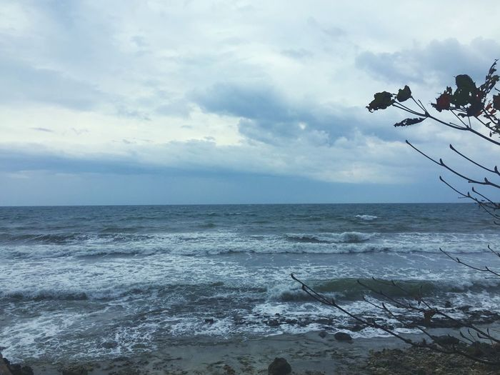 Storm Chasing Philippines Bohol Sky Sea Water Horizon Over Water Cloud - Sky Horizon Scenics - Nature Beach Beauty In Nature Nature No People Outdoors Wave Day Idyllic Tranquil Scene Non-urban Scene